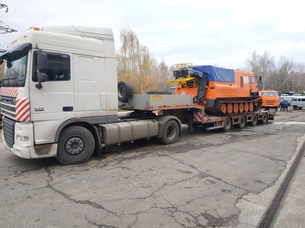 Перевозка снегоболотохода г.Нижний Новгород — г.Великий Устюг