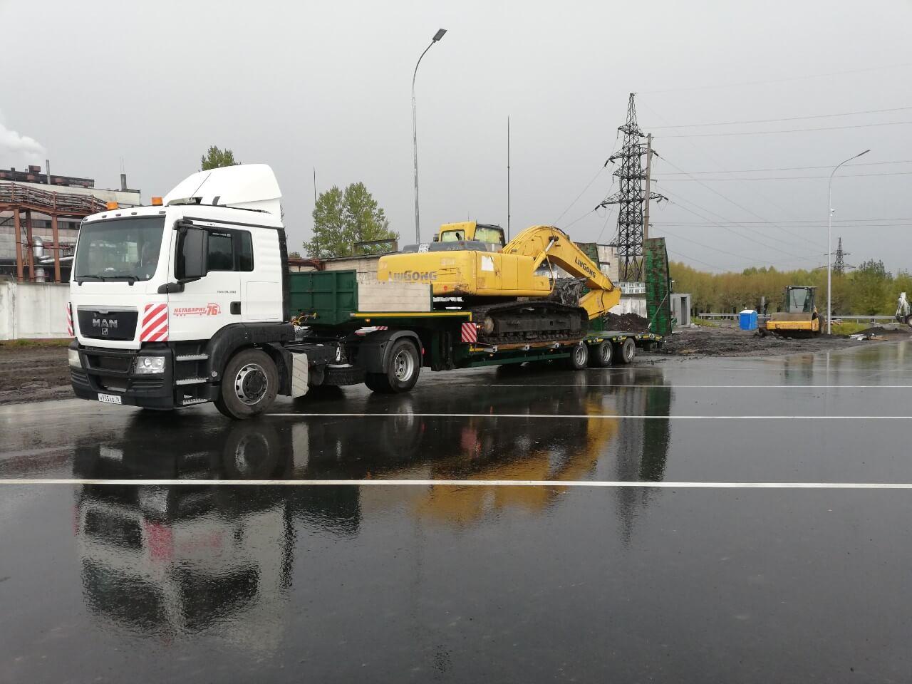 Перевозка Экскаватора с завода Комацу для компании АО «ПрофСтрой» на строительную площадку г. Череповец