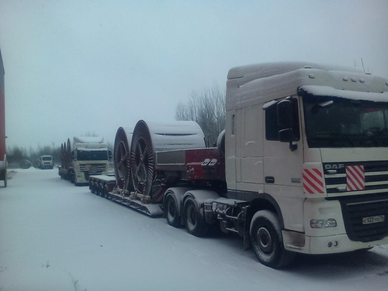 Перевозка катушек с кабелем с ООО «Рыбинсккабель» в Санкт Петербург