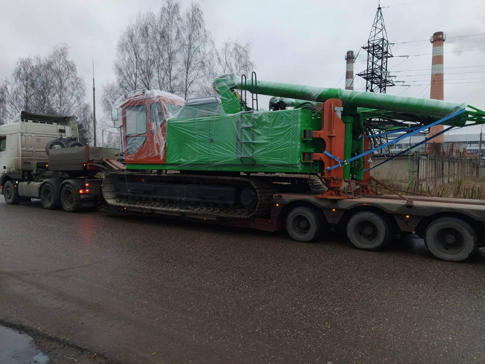 Перевозка сваебойной установки из Ярославля в г. Балашиху, 50 тонн