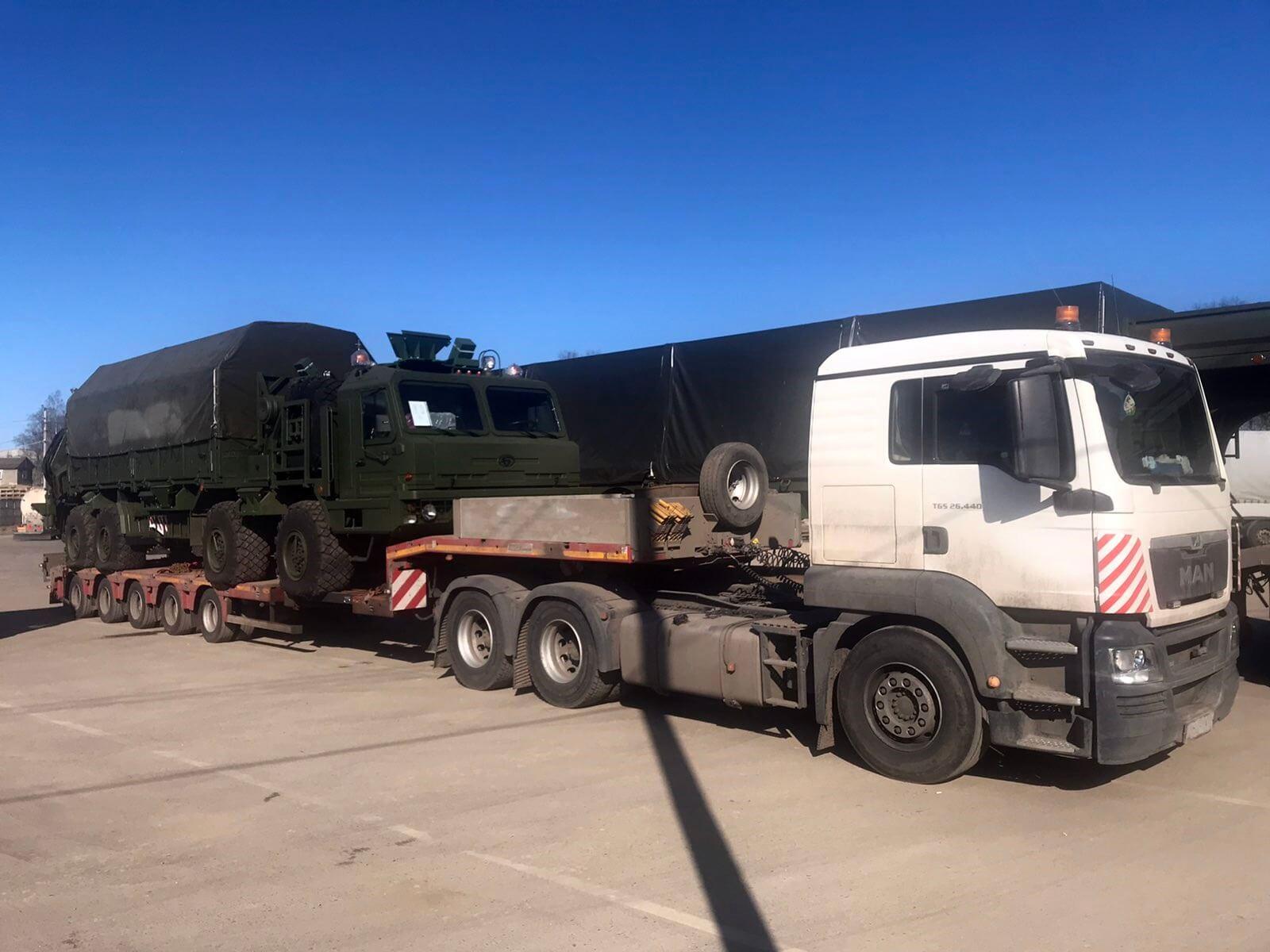 Перевозка трех единиц военной техники с Иваново – в МО г. Бронницы для ЦНИИ Минобороны