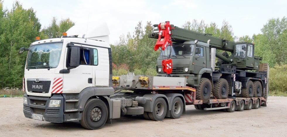 Перевозка военной спецтехники с завода АО «Галичский автокрановый завод» в адрес военной части