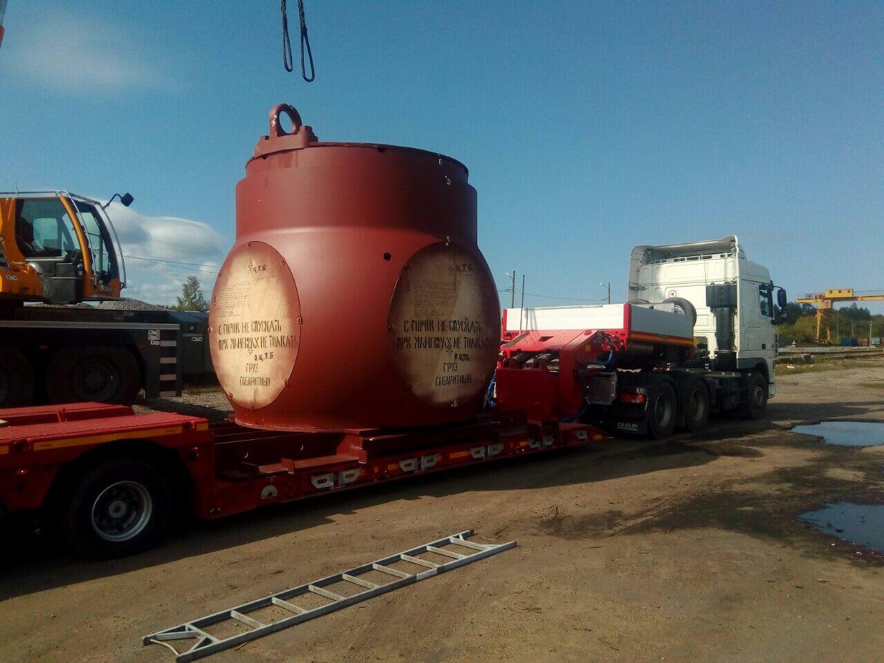 Транспортировка технологического оборудования, весом 70 тонн для завода ПАО ОДК «Сатурн»
