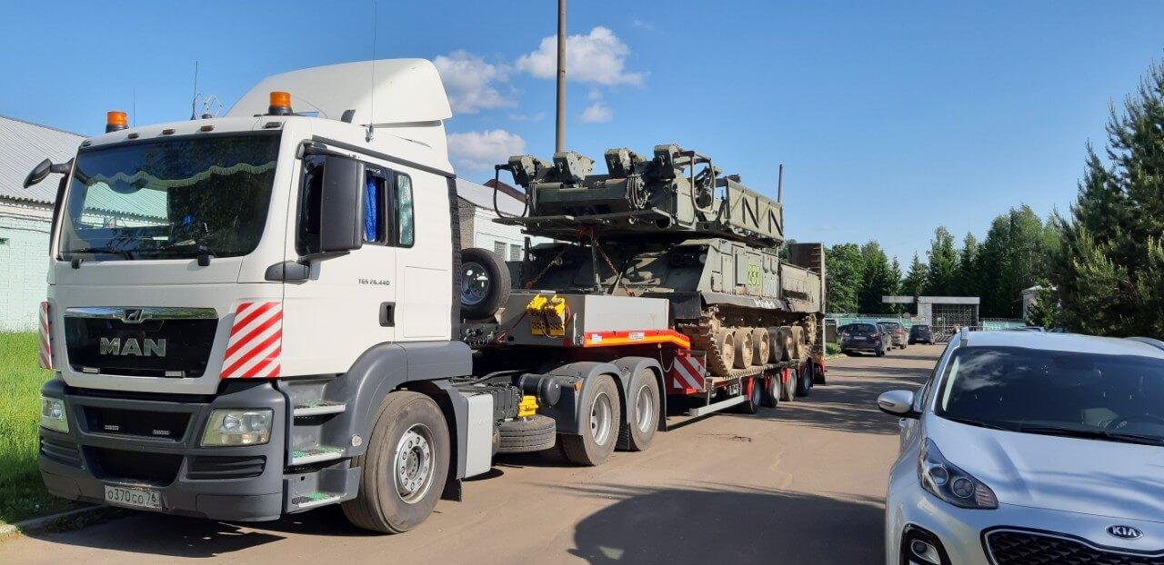 Транспортировка военного изделия на ремонт для войсковой части