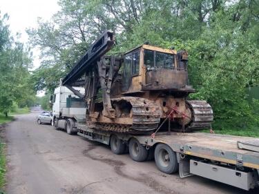 Перевозка сваебоя массой 34 тонны