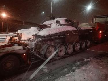 Перевозка демилитаризованного танка