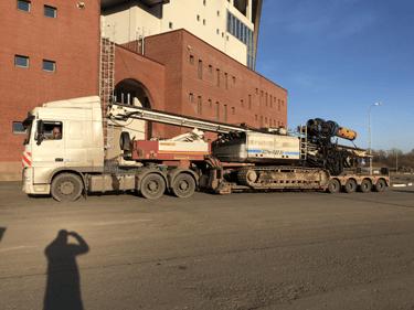 Перевозка сваедавилки Ярославль – Санкт-Петербург