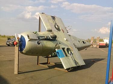 Перевозка фюзеляжа самолета в аэропорт г.Твери