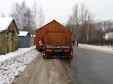 Перевозка гаража шириной 5,2 м по городу Ярославлю