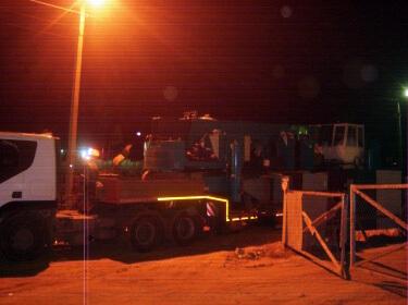 Перевозка сваедавилки массой 55 тонн