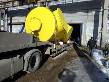 Перевозка газового сепаратора DN 2600 от  ООО «Нефтехимаппарат» г.Дзержинск в г.Череповец, для нужд АО «Северсталь»