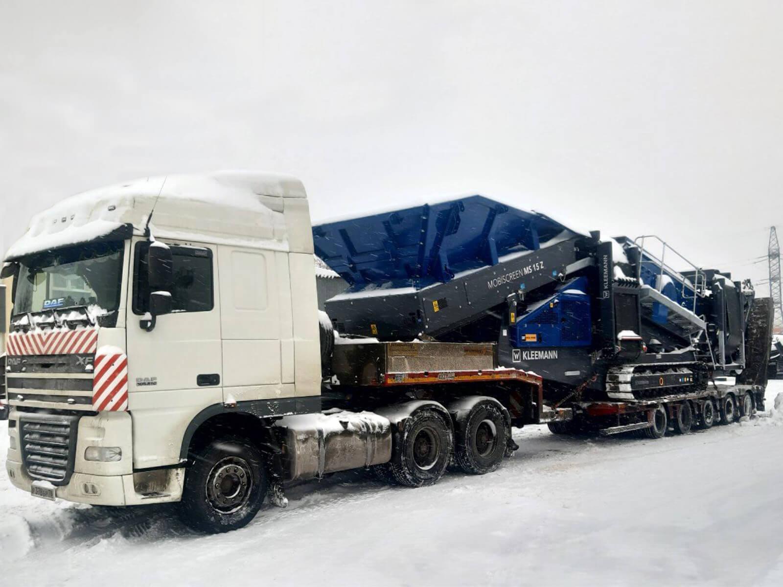 Перевозка дробильной установки в карьер Нижегородской области