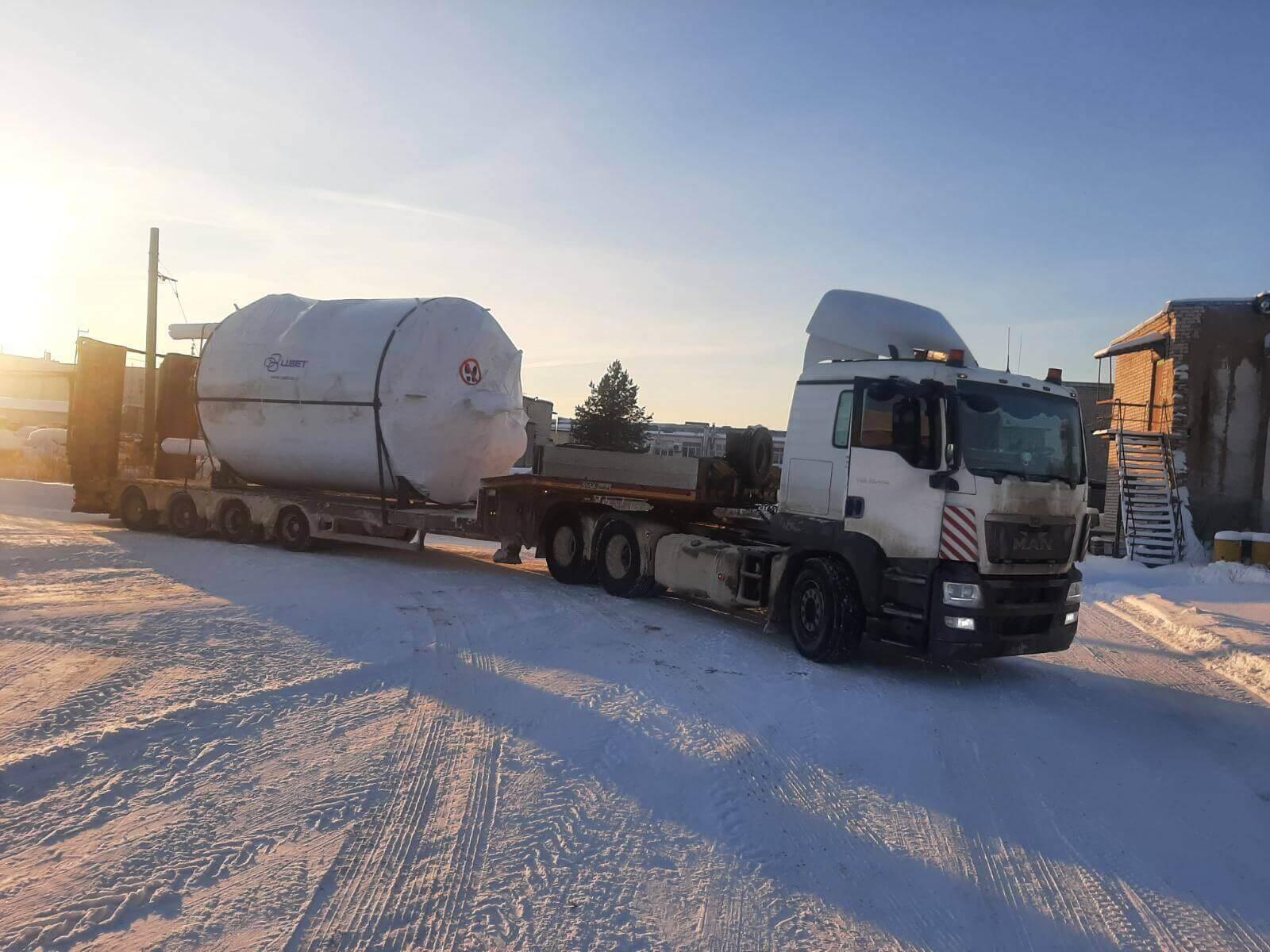 Перевозка емкости диаметром 3,6 метра в г. Москва